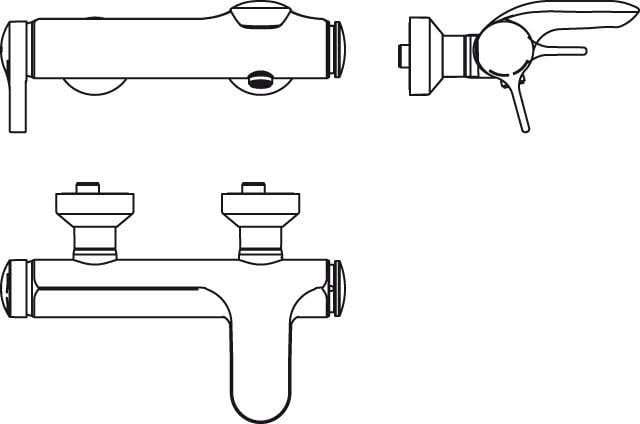 Badewannenarmaturen Ideal Standard Einhand-Badebatterie Melange