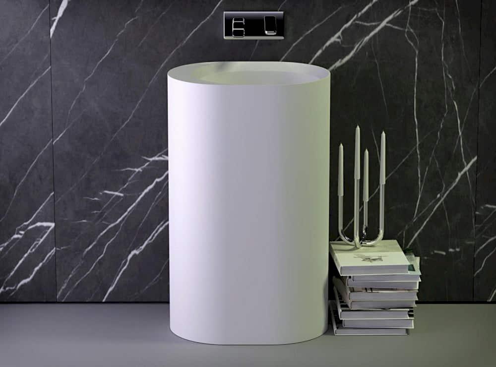 Waschbecken Knief Säulenwaschtisch pearl