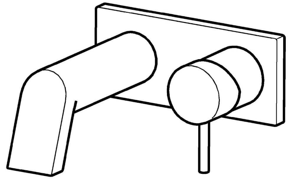Waschbeckenarmaturen Hansa Armaturen Fertigmontageset Waschtisch-Wandbatterie Hansastela