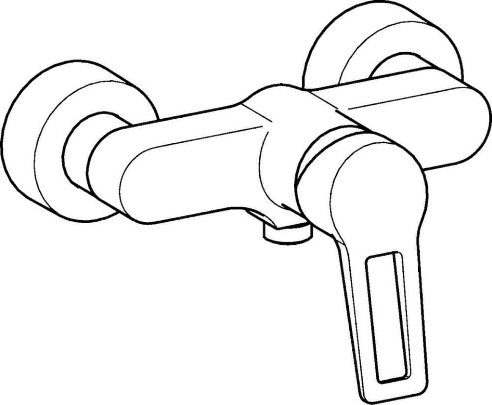 Duscharmaturen Hansa Armaturen Einhand-AP-Brausebatterie migo Style