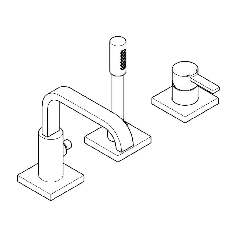Badewannenarmaturen Grohe 3-Loch Einhebel-Wannenrandbatterie Allure