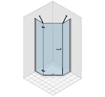 Duschabtrennungen duka Fünfeckkabine gallery 3000