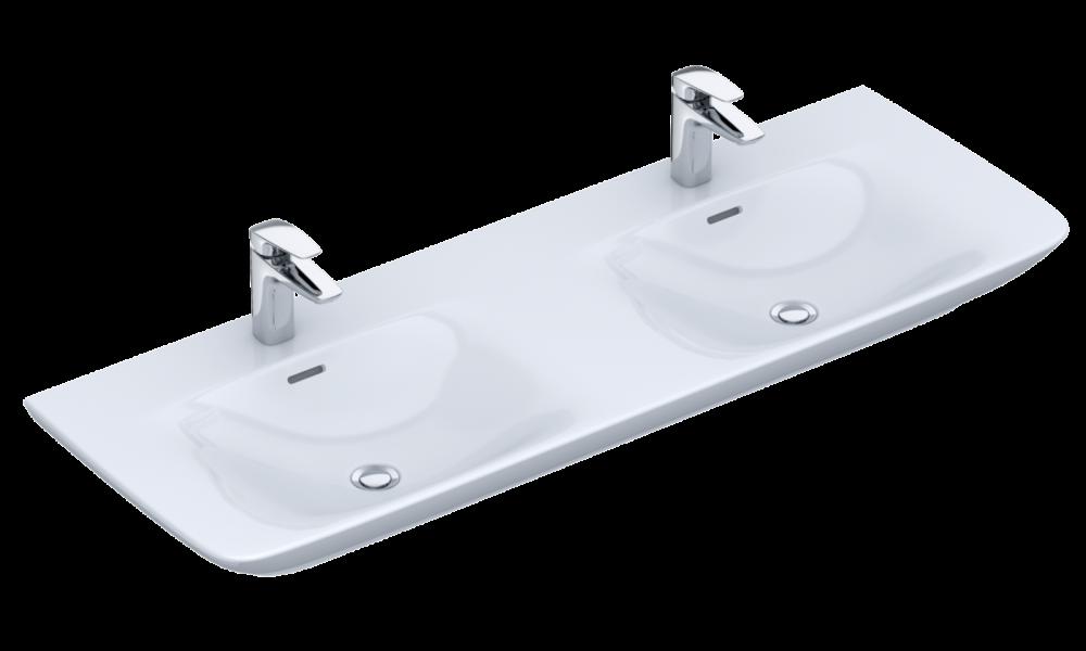 Waschbecken VIGOUR Doppelwaschtisch white