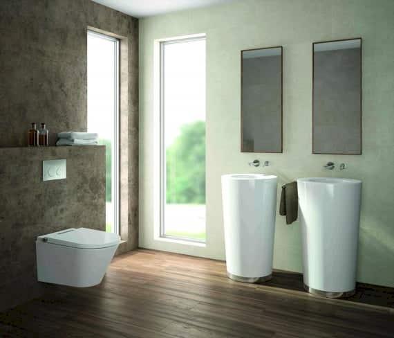 Das AXENT.ONE sieht aus wie ein handelsübliches WC mit Spülung, mit einem kompakten Design geeignet für jeden Haushalt.