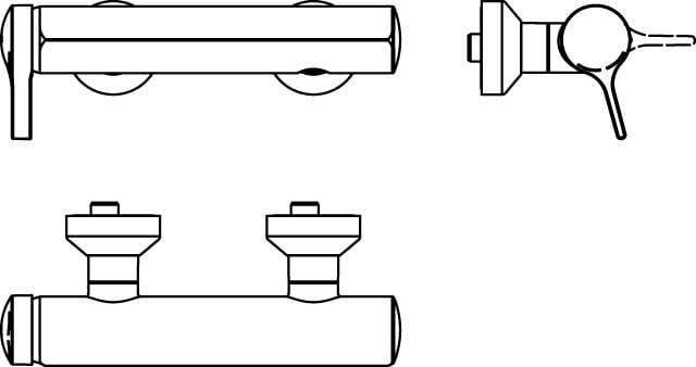 Duscharmaturen Ideal Standard Einhand-AP-Brausebatterie Melange