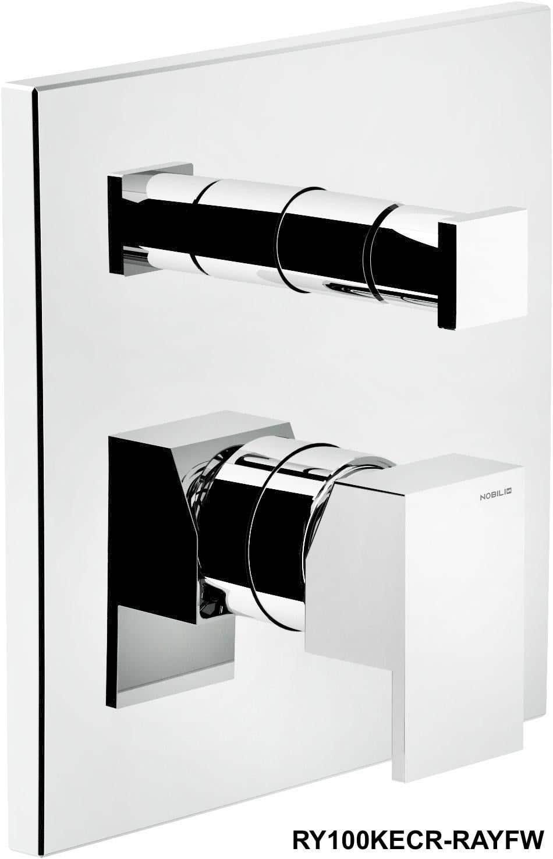 Badewannenarmaturen Carlo Nobili Fertigmontageset Thermostatwannenbatterie Ray