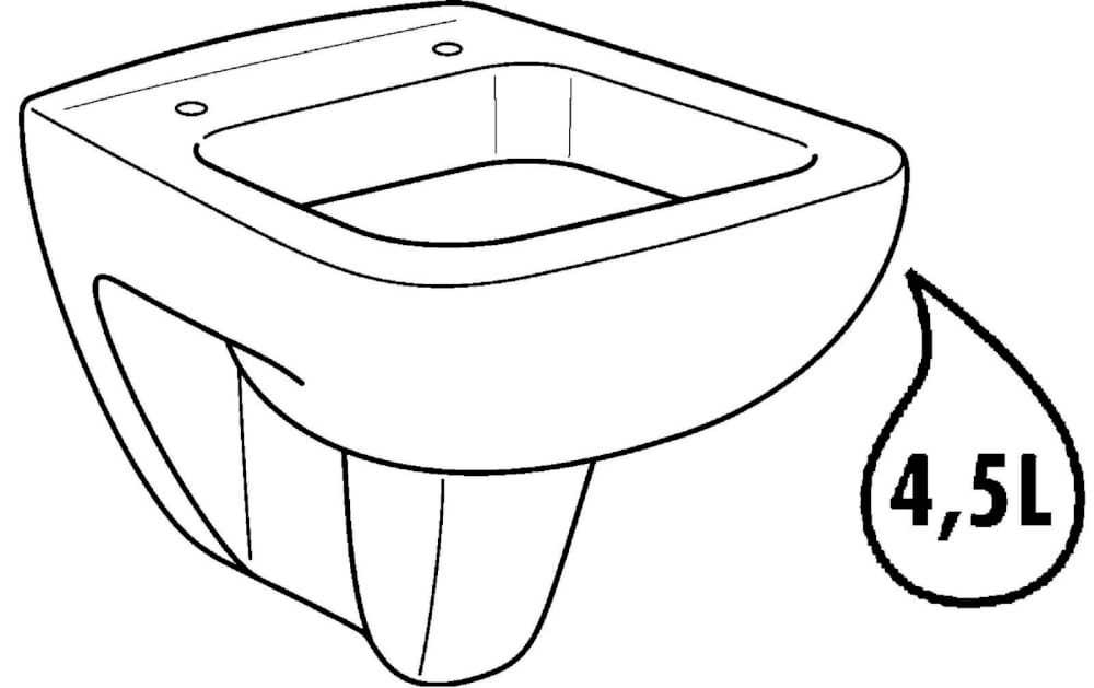 Wand-WCs GEBERIT Wand-Tiefspül-WC Renova Nr.1 Plan