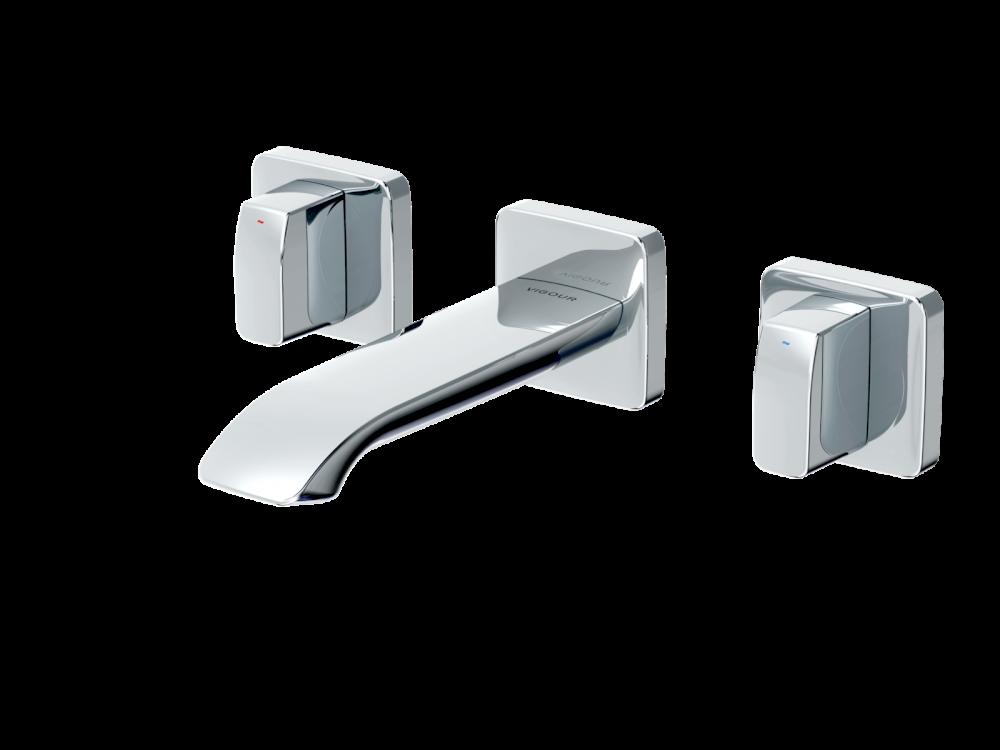 Waschbeckenarmaturen VIGOUR 3-Loch-Waschtischwandbatterie vogue