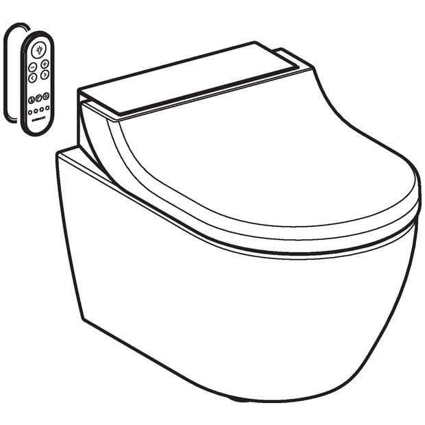 Wand-WCs GEBERIT Dusch-WC AquaClean Tuma