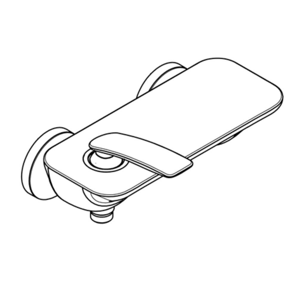 Badewannenarmaturen Kludi Einhand-AP-Brausebatterie Balance